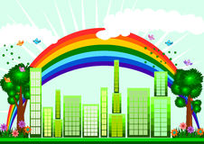 Green Eco city skyline concept Royalty Free Stock Image