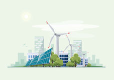 Green eco city urban theme Stock Images