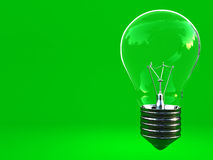 Green eco classic light bulb with space for write Royalty Free Stock Image