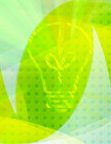 Green eco concept. Conceptual ecology background;bulb green collage Royalty Free Stock Images