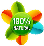 Green eco concept - natural. Green eco concept - 100 percents natural. Vector icon Stock Illustration