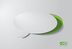 Green Eco concept - Speech box. Royalty Free Stock Image