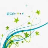 Green eco conceptual leaves on white design. For nature concept | banner | background | infographic | business presentation Stock Photography