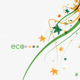 Green eco conceptual leaves on white design Stock Photos