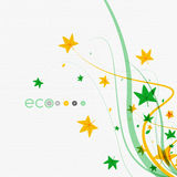 Green eco conceptual leaves on white design Stock Images