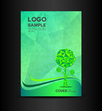 Green Eco Cover design vector illustration Book cover design Royalty Free Stock Photography