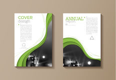 Green eco  cover modern template, design, annual report, magazin Stock Image