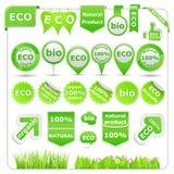 Green Eco Design Elements Stock Image