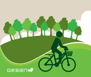 Green eco design. Over green background vector illustration Stock Photos