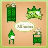 Green eco dollhouse furniture Stock Photos