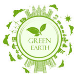 Green, Eco, Earth, Vector, Illustration Royalty Free Stock Photo