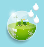 Green Eco Earth. Vector Illustration. Stock Photography