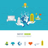 Green eco and eco-friendly city concept. Smart city. Stock Photography