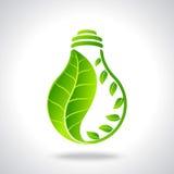 Green eco energy concept in bulb Stock Photos