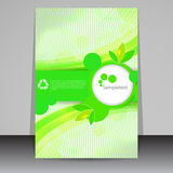 Green eco flyer design Stock Photo