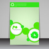 Green eco flyer design Royalty Free Stock Photography