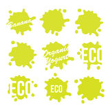Green Eco Food Labels eps10. Green Eco Food Labels Vector Illustration