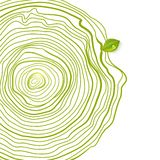Green eco friendly drawing circles with leaf Stock Images