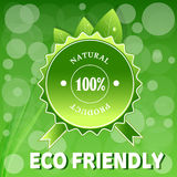Green ECO FRIENDLY. Royalty Free Stock Photos