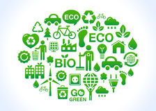 Green / eco friendly planet Stock Photo
