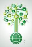 Green eco friendly planet tree Stock Photo