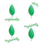 Eco logos Royalty Free Stock Photos