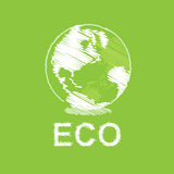 Green eco and globe design Royalty Free Stock Photo
