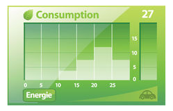 Green eco graph Royalty Free Stock Photography