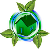 Green eco house stock illustration