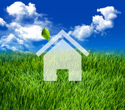 Green eco house Stock Images