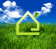 Green eco house Royalty Free Stock Photo