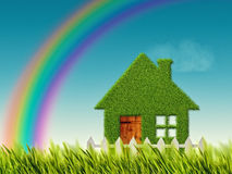 Green Eco house Stock Image