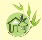 Green eco house Stock Photo