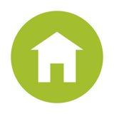 Green eco house image design Stock Photos