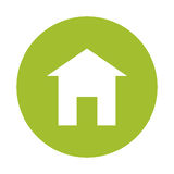 Green eco house image design. Illustration Stock Photos