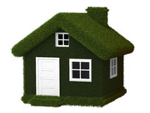 Green Eco house Royalty Free Stock Images