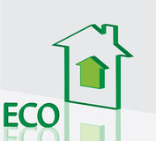 Green ECO house vector Stock Images