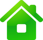 Green eco house vector icon Royalty Free Stock Photos