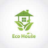 Green eco house Royalty Free Stock Image