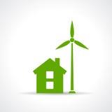 Green eco house Stock Photos