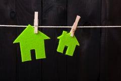 Green eco houses Royalty Free Stock Photos