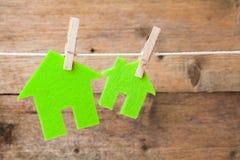Green eco houses Stock Photo