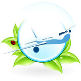 Green eco icon Stock Photography