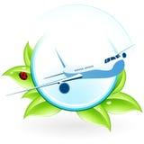 Green eco icon Stock Photography