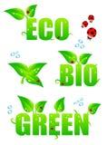 Green eco icons Stock Photo