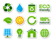 Green / eco icons Stock Images