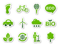Green / eco icons Stock Photos