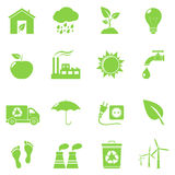Green Eco Icons Royalty Free Stock Photography
