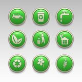 Green eco icons. Illustration of green eco icons Royalty Free Stock Photography