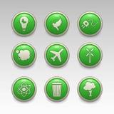 Green eco icons 2 Stock Photo